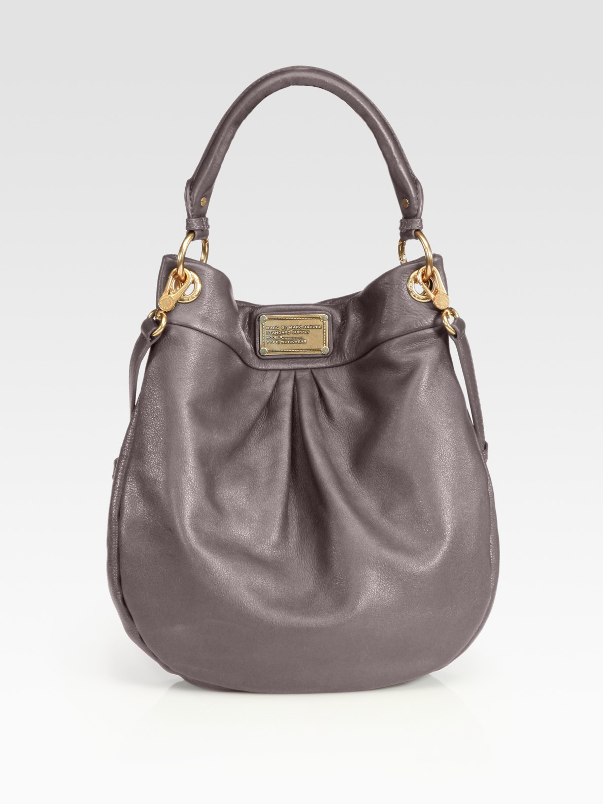 marc by marc jacobs classic q hillier hobo in brown espresso lyst. Black Bedroom Furniture Sets. Home Design Ideas