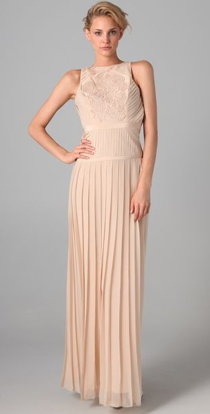 Tibi Pleated Gown - Lyst