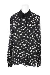 Jason Wu All Over Feathers Pattern Printed Silk Shirt - Lyst