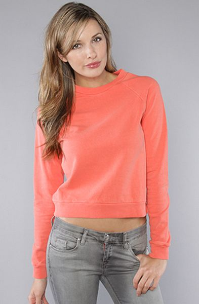 Obey The Old School Crew Fleece in Burnt Sienna in Red (sienna) - Lyst