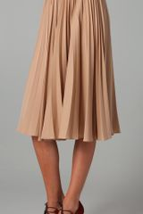 Tucker Pleated Skirt - Lyst