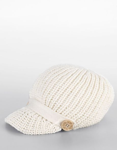 Ugg Cardy Knit Cap in White (ivory)
