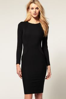 ASOS Collection Asos Pencil Dress with Seamed Panels - Lyst
