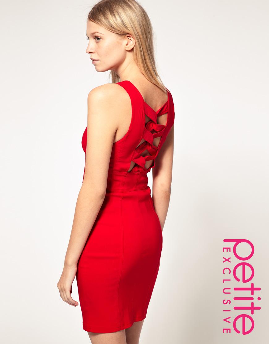 Asos collection Asos Petite Exclusive Bodycon Dress with Twist ...