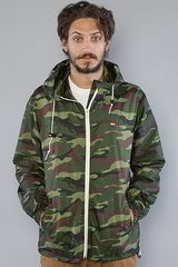 Obey The Standard Issue Windbreaker in Camo - Lyst