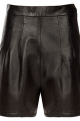 Alannah Leather Shorts in Black - Lyst