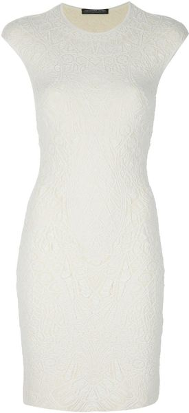Alexander Mcqueen Cathedral Dress in White (cream) - Lyst