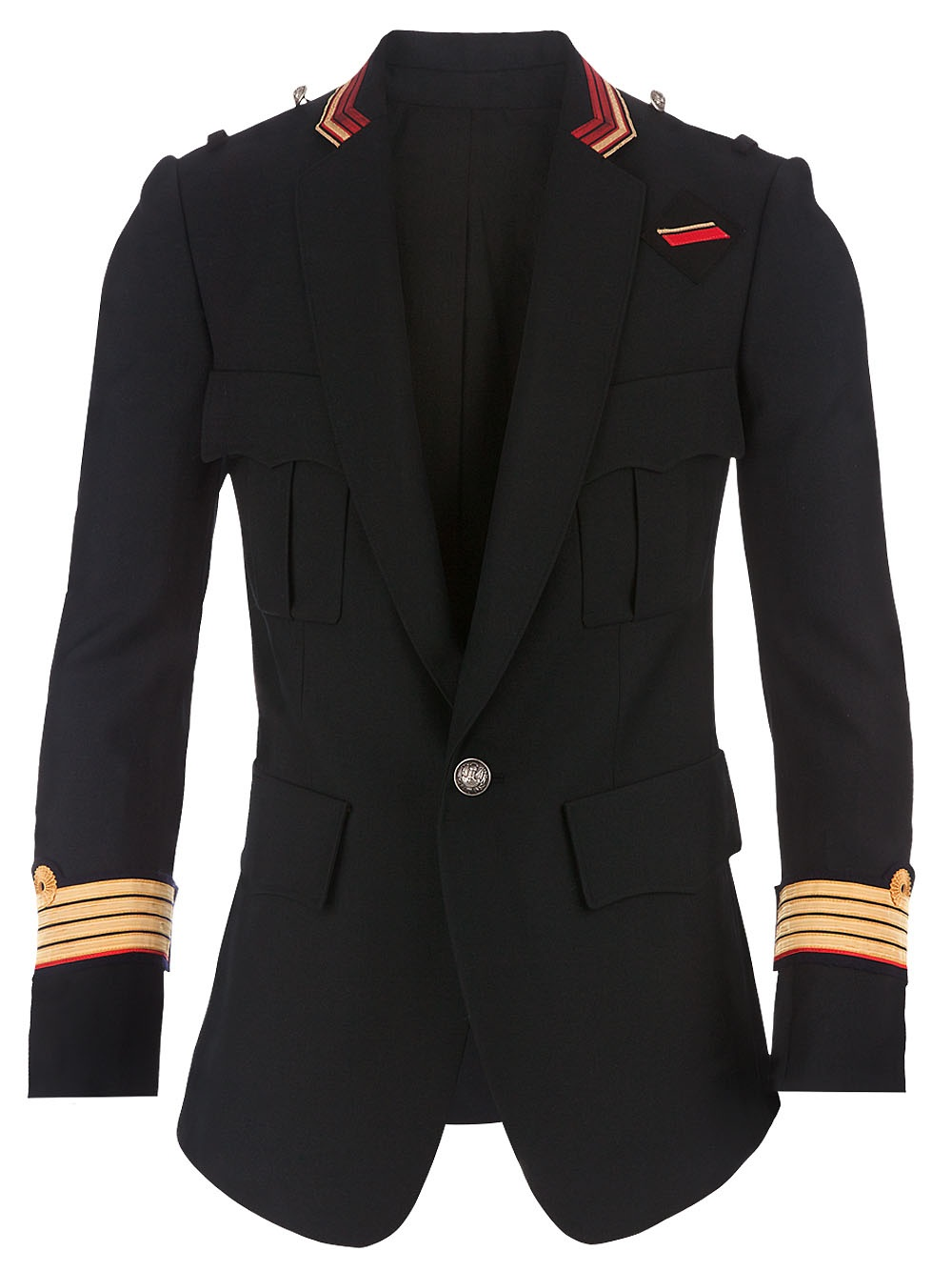 Balmain Military Jacket In Black For Men Lyst