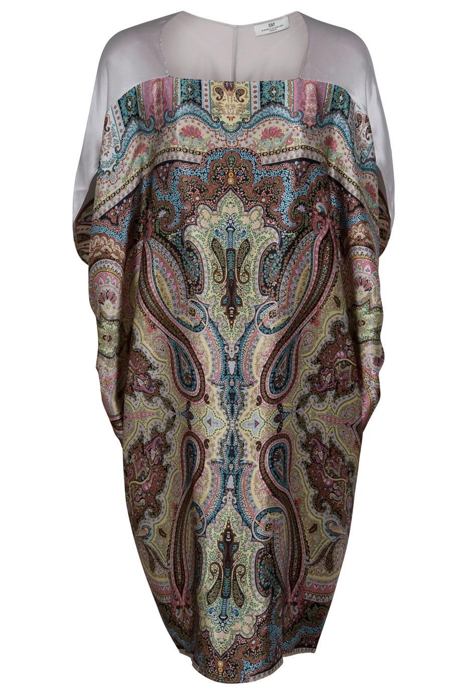 day birger et mikkelsen paisley slouchy dress in multicolor lyst. Black Bedroom Furniture Sets. Home Design Ideas