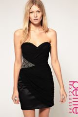 ASOS Collection Asos Petite Exclusive Bandeau Dress with Embellished Side - Lyst