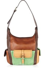 Chloé Color-block Leather and Suede Bag - Lyst