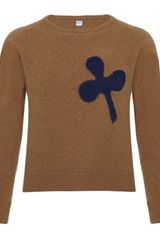 E. Tautz Crew Neck Jumper with Badge - Lyst