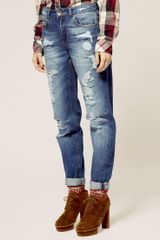 ASOS Collection Asos Boyfriend Jeans with Navajo Stitch Detail
