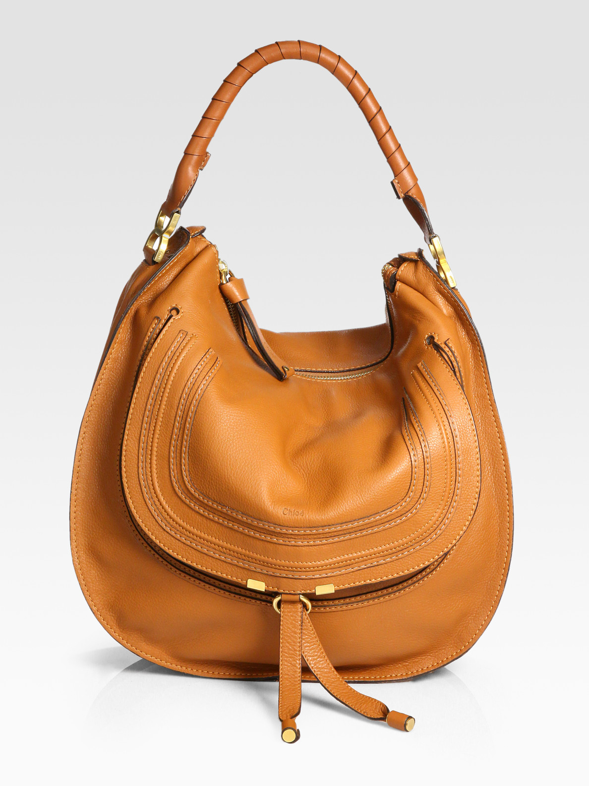 Chlo�� Large Marcie Hobo Bag in Brown (TAN) | Lyst