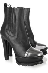 Etro Cap-toe Leather Ankle Boots - Lyst