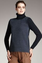 Fendi Two-tone Turtleneck Sweater
