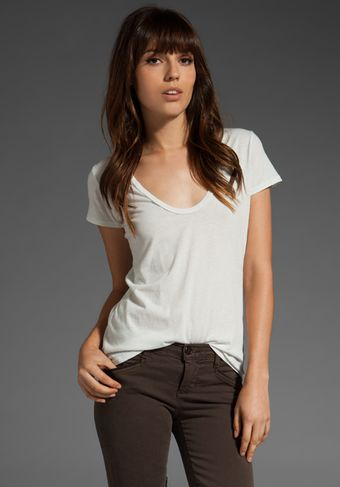 James Perse Classic Relaxed Casual Scoop Tee - Lyst