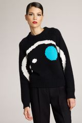 Jil Sander Graphic-knit Cashmere Sweater - Lyst