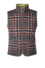 Lavenham Grey Plaid Tweed Mickfield Quilt Gilet