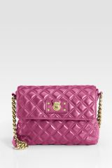 Marc Jacobs Quilting The Large Single Leather Bag in Purple (berry) - Lyst