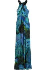 Matthew Williamson Lotus-print Silk-chiffon Maxi Dress - Lyst