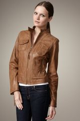 Neiman Marcus Leather Jacket - Lyst