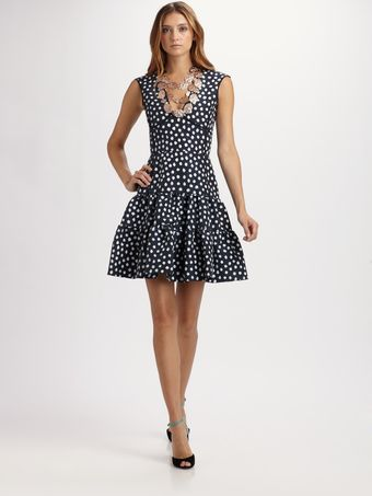 Oscar de la Renta Ikat Dot Dress - Lyst