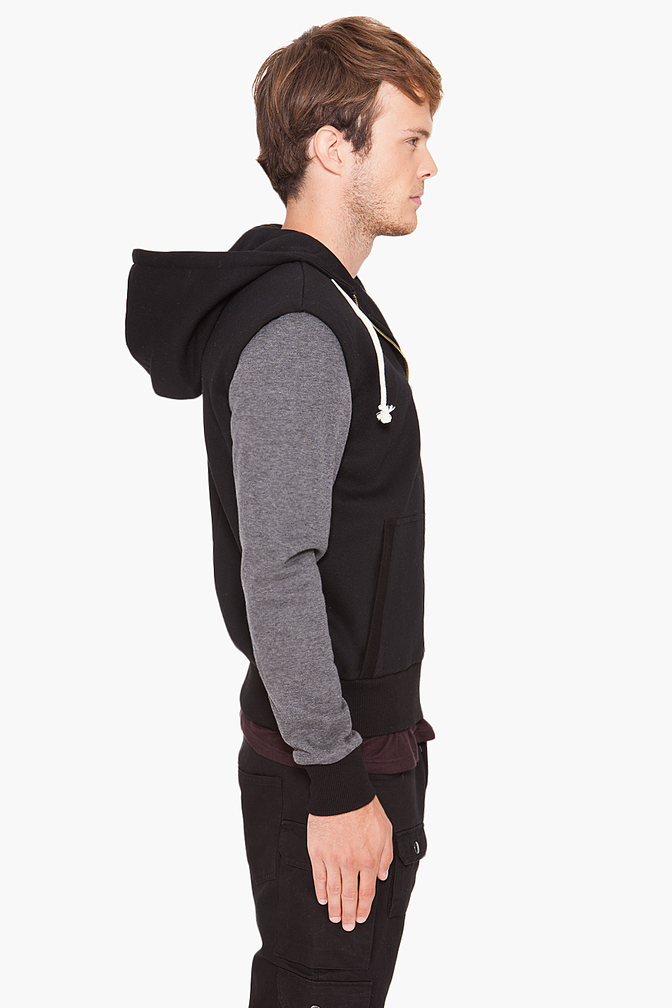b1bfc9f45fc Lyst - Shades of Grey by Micah Cohen Zip Up Hoodie in Black for Men