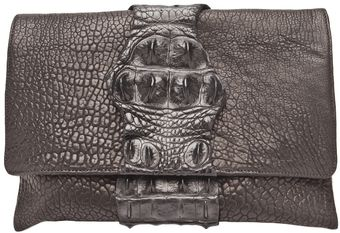 Victoria Horning Alligator Clutch - Lyst