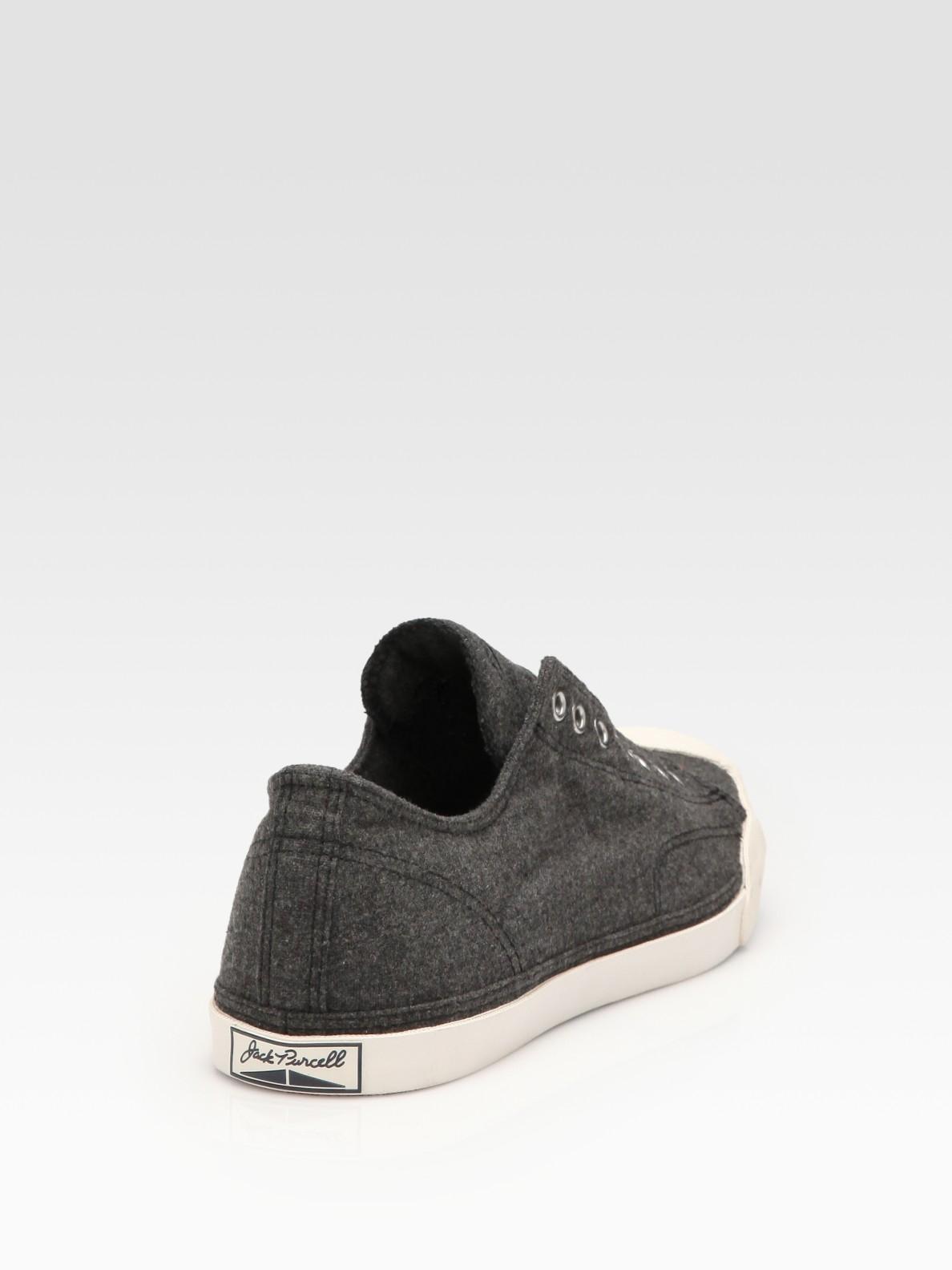 fbc015122ba3 Lyst - Converse Jack Purcell Wool Sneakers in Black