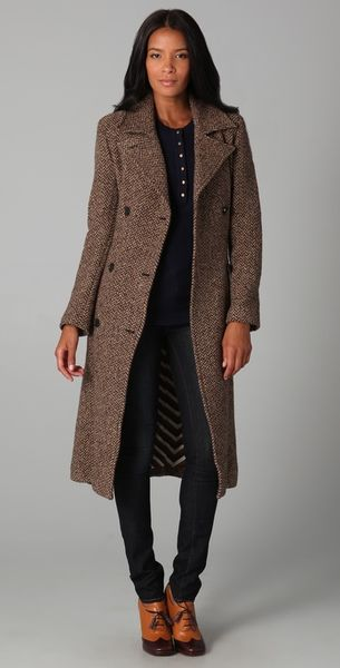 Marc By Marc Jacobs Avalon Herringbone Coat - Lyst