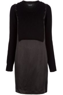 Sophie Hulme Silk and Knit Jumper Dress - Lyst