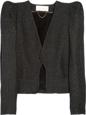 Vanessa Bruno Metallic Tweed Jacket - Lyst