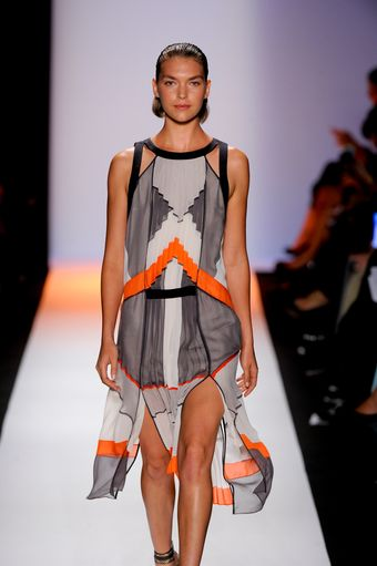 BCBGMAXAZRIA Spring 2012 Dress with Straps - Lyst