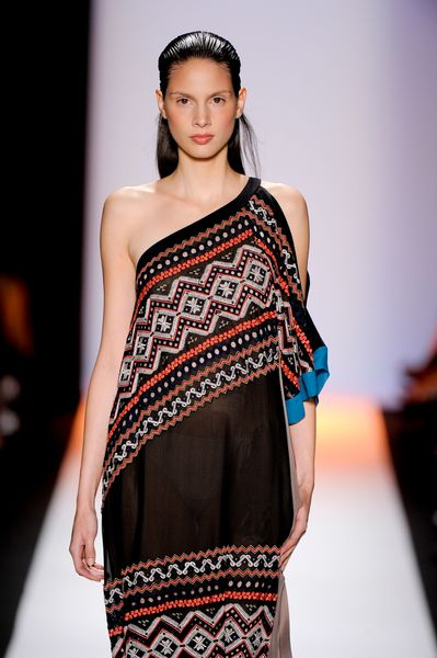 Bcbgmaxazria Spring 2012 Asymmetric OneShoulder Dress in Black - Lyst