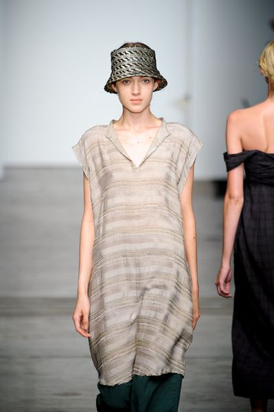 Rachel Comey Spring 2012 Beige Short Sleeve Dress in Beige - Lyst