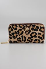 Tory Burch City Haircalf Zip Continental Wallet - Lyst