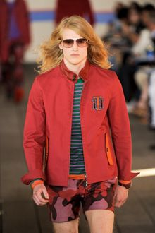 Tommy Hilfiger Spring 2012 Red Jacket with Badge - Lyst