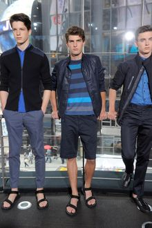 DKNY Spring 2012 Striped Blue T-Shirt - Lyst