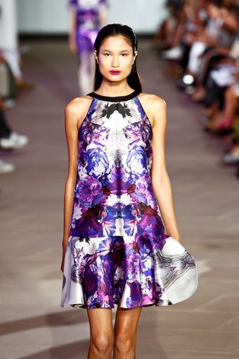 Prabal Gurung Spring 2012 White and Purple Dress - Lyst