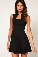 ASOS Collection Asos Fit and Flare Dress with Square Neck - Lyst