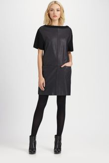 Marc By Marc Jacobs Stephanie Leather Sweater Dress - Lyst
