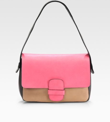 Marc Jacobs Colorblock Shoulder Bag in Pink (fuchsia) - Lyst