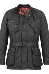 Barbour Black International Quilted Jacket - Lyst