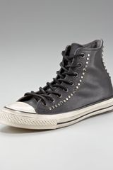 Converse Studded Leather Hi-top - Lyst