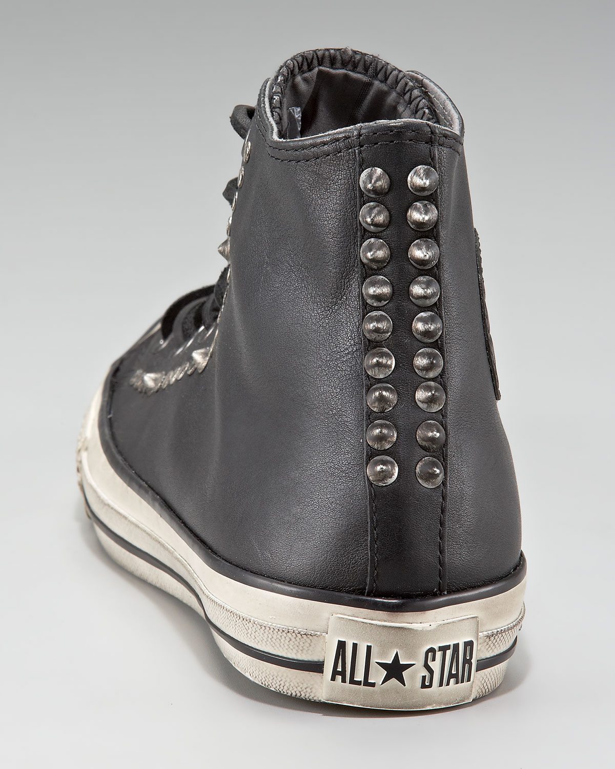 ... Lyst - Converse Studded Leather Hi-top in Black for Men 100% authentic  dd01f ... 6f34bc12d
