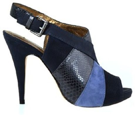 Cynthia Vincent Astrid Platform Sandals in Blue (navy) - Lyst