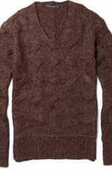 John Varvatos Open Cable Knit Sweater