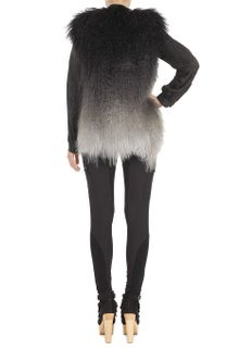 Matthew Williamson Dégradé Mongolian Lamb Gilet - Lyst