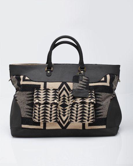 Pendleton Luggage Bag Blk Tan Harding In Black Lyst